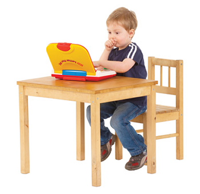 Boy looking at a computer